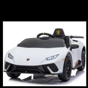 Lamborghini Lamborghini Huracan 12V met Rubberen banden, Leren zitje en Bluetooth (Wit)