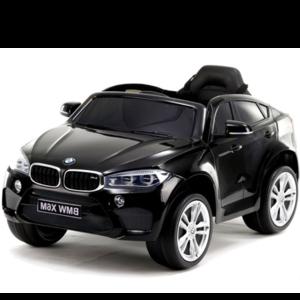BMW BMW X6M 12V met Rubberen banden en Leren zitje (Metallic Blauw) - Copy