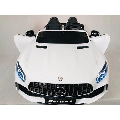 Mercedes Mercedes Benz GTR AMG 12V Kinderauto Wit
