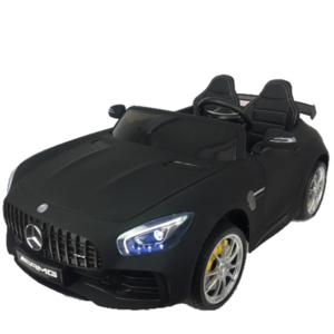 Mercedes kinderauto Mercedes Benz GTR AMG 12V Kinderauto Mat Zwart