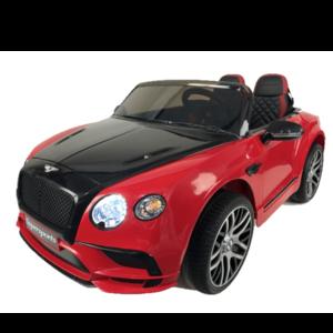 Bentley 2-Persoons Bentley Continental 12V met Rubberen banden en Leren zitje (Metallic Roze) - Copy