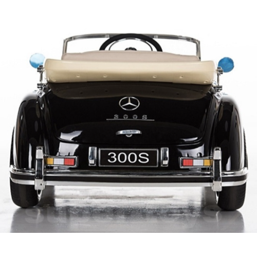 Mercedes Mercedes 300S 12V Kinderauto Metallic Zwart