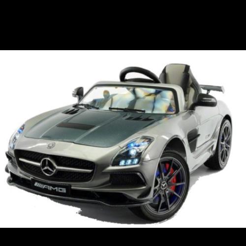 Mercedes Mercedes SLS 12V Kinderauto Metallic Zilver (Carbon Editie)
