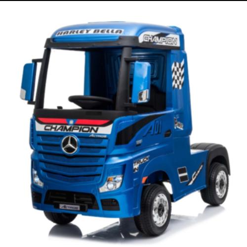Mercedes kinderauto Mercedes Actros 12V kindervrachtwagen metallic blauw