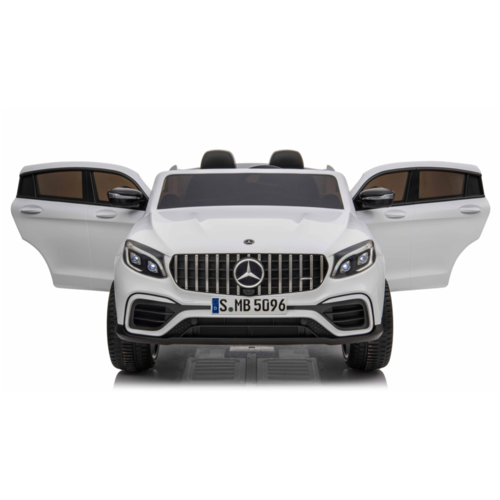 Mercedes kinderauto Mercedes Benz GLC63S AMG 12V 2 persoons kinderauto wit