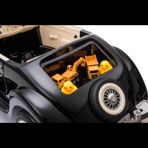 Mercedes kinderauto Mercedes 540K 12V Kinderauto Metallic Zwart