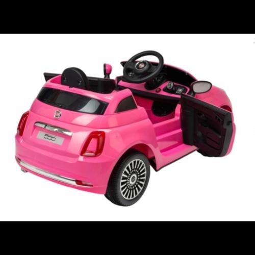 Fiat kinderauto Fiat 500 12V kinderauto Roze