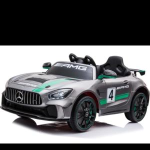 Mercedes kinderauto Mercedes GT4  Kinderauto 12V Metallic Zilver