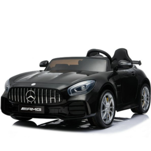 Mercedes kinderauto Mercedes Benz GTR AMG 12V Kinderauto Metallic zwart