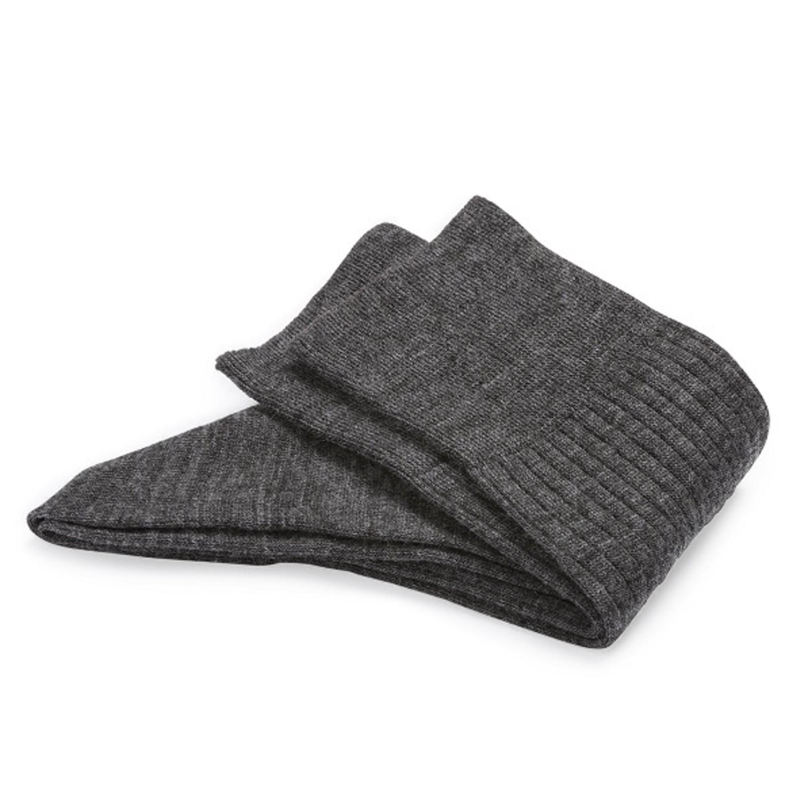 Carlo Lanza Graue Merino Wolle Socken Socken