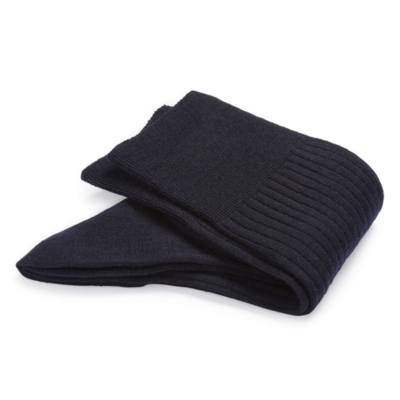 Dark blue wool socks