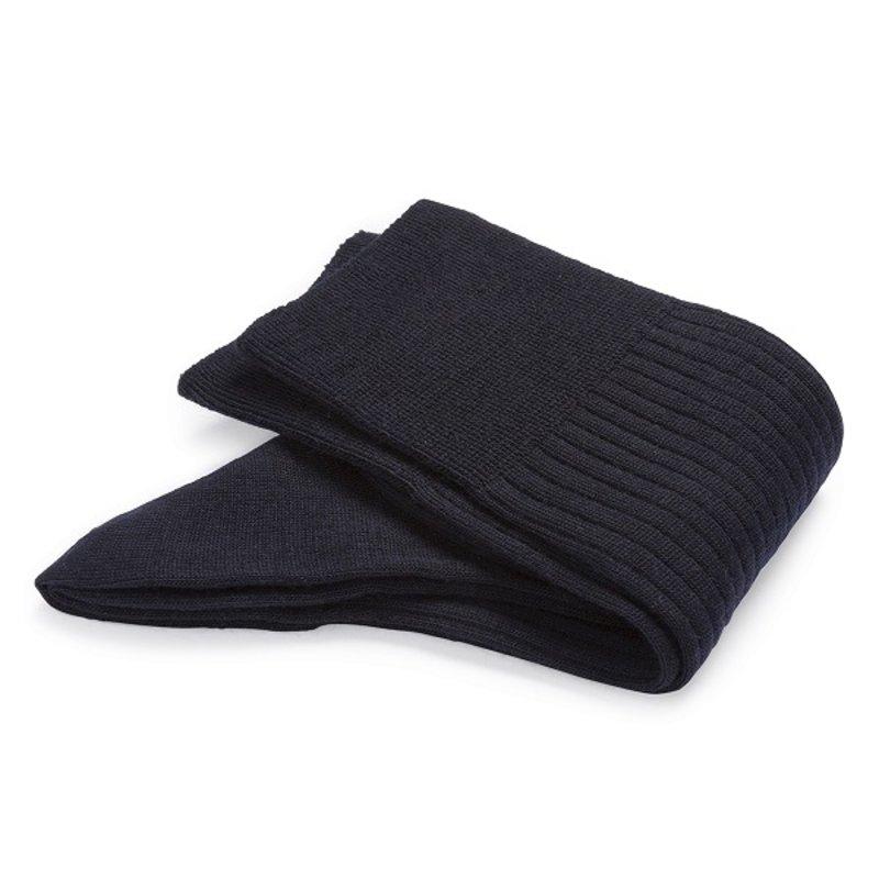 Dunkelblaue Merino Wolle Socken