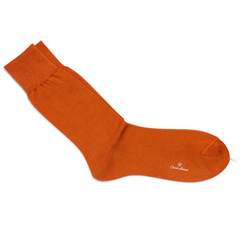 Orange cotton socks