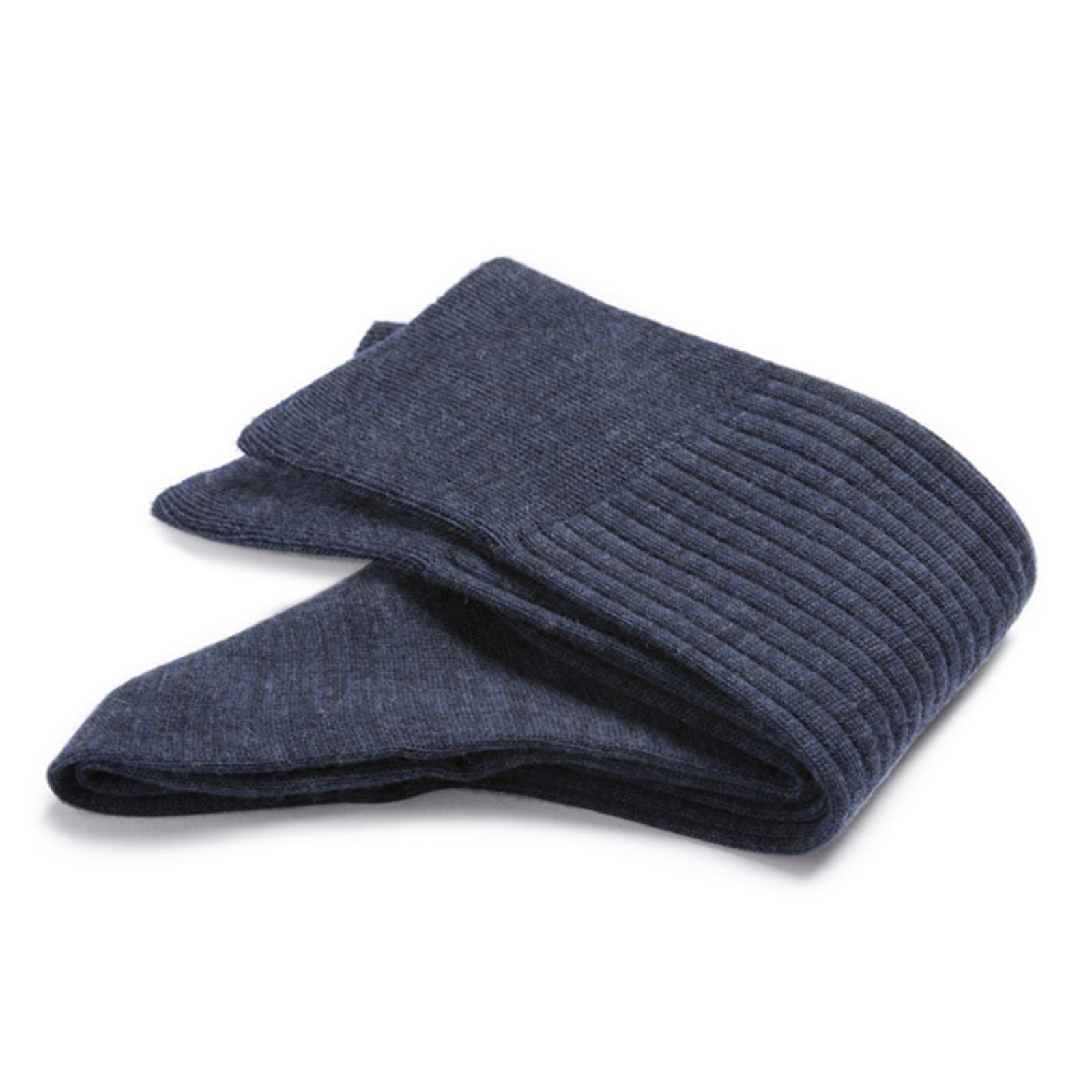 Carlo Lanza Royalblauwe wollen rib sokken | Carlo Lanza
