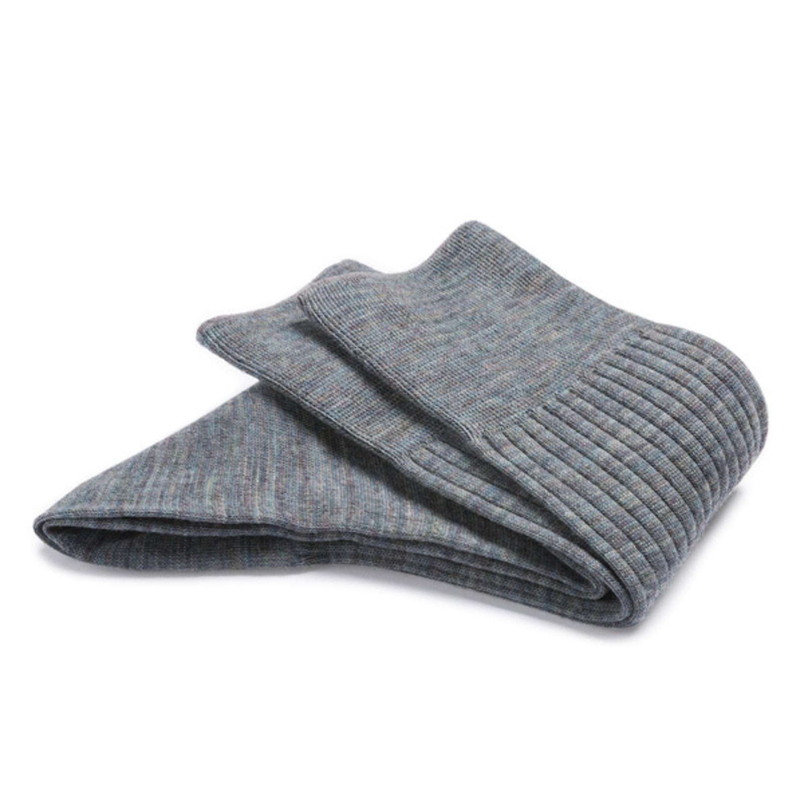 Carlo Lanza Groen grijs gemêleerd wollen sokken | Carlo Lanza