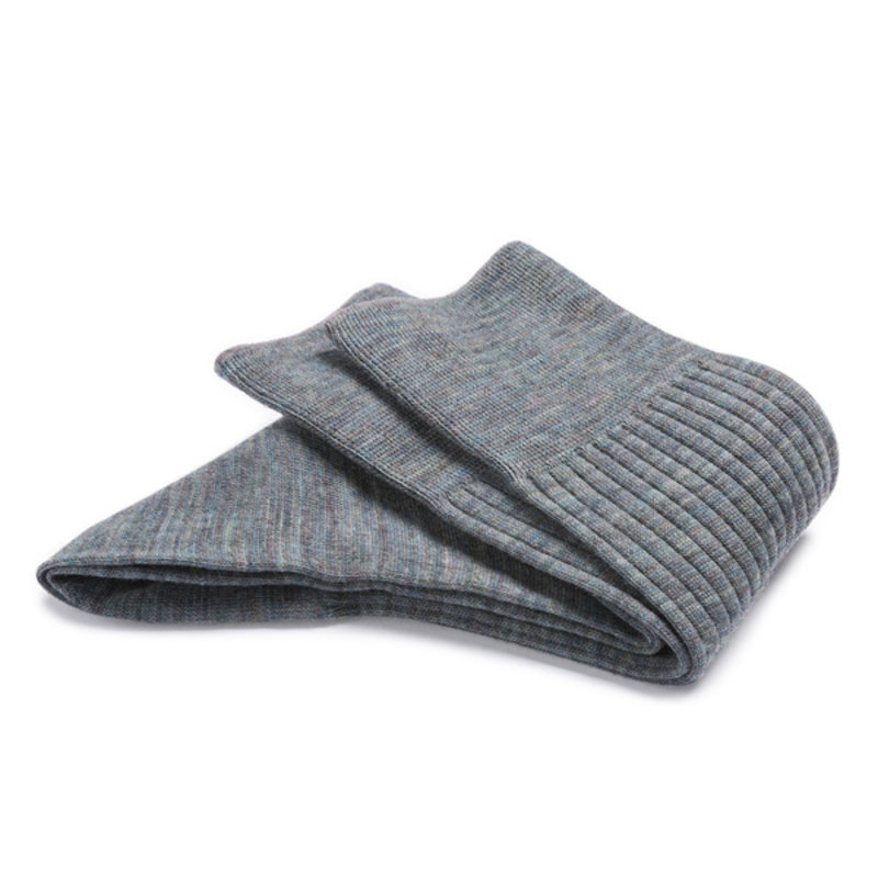 Groen grijs gemêleerd wollen sokken | Carlo Lanza