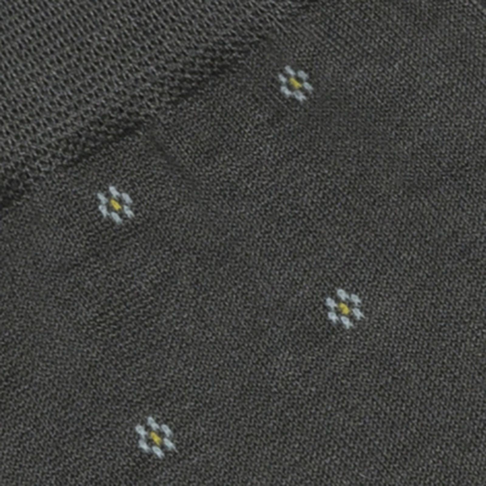 Carlo Lanza Grey Flower Kneehigh cotton socks
