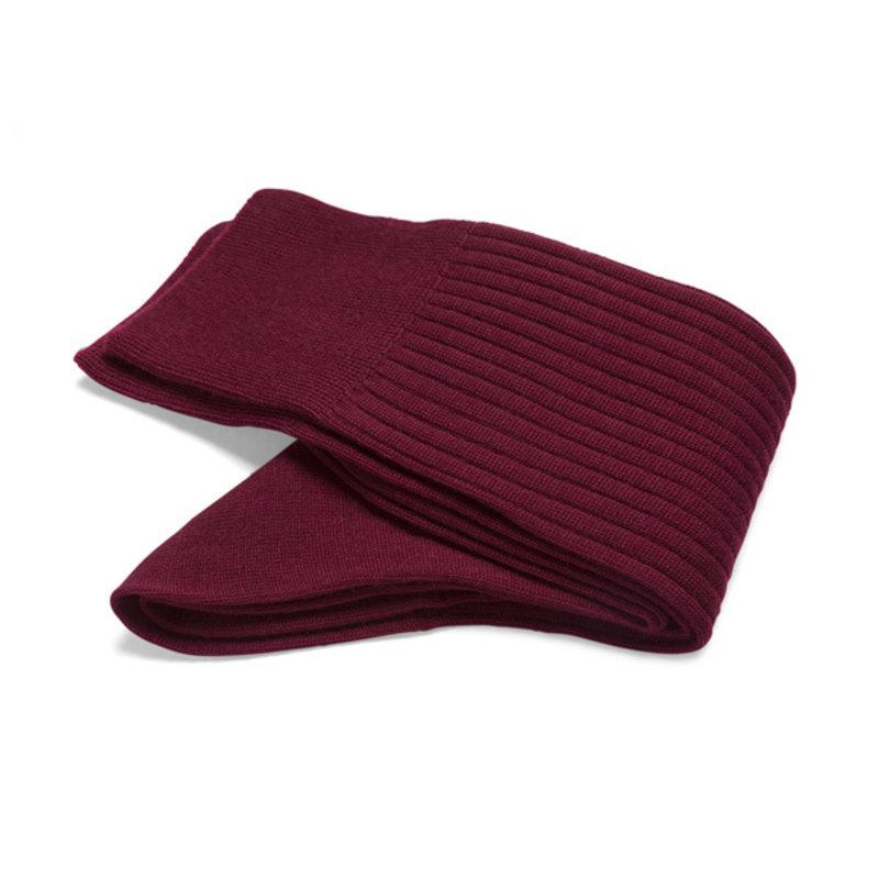 Rote Merino Wolle Socken