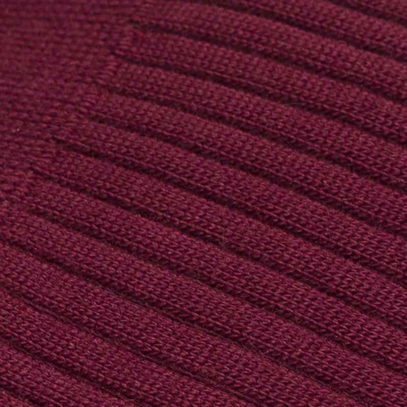 Red wool socks