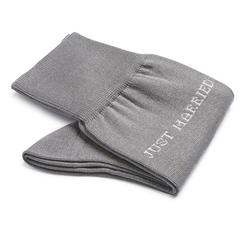 Grey Just Married socks