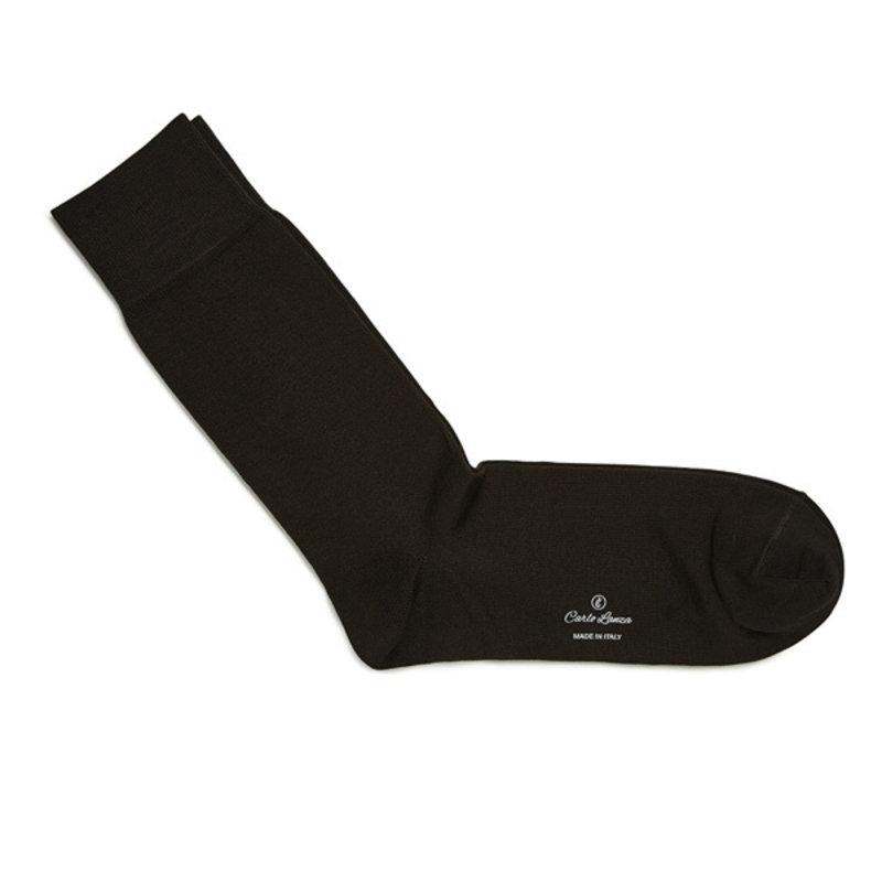 Donkerbruine katoenen sokken | Carlo Lanza