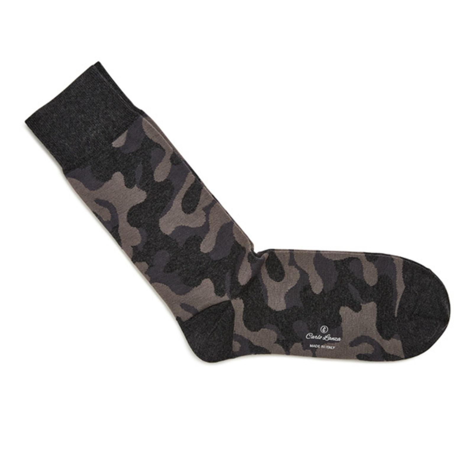Carlo Lanza Grey camouflage socks