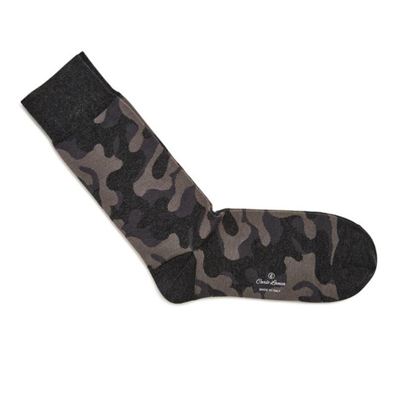 Grey camouflage socks