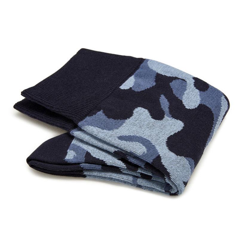 Camouflage katoenen sokken blauw   Carlo Lanza