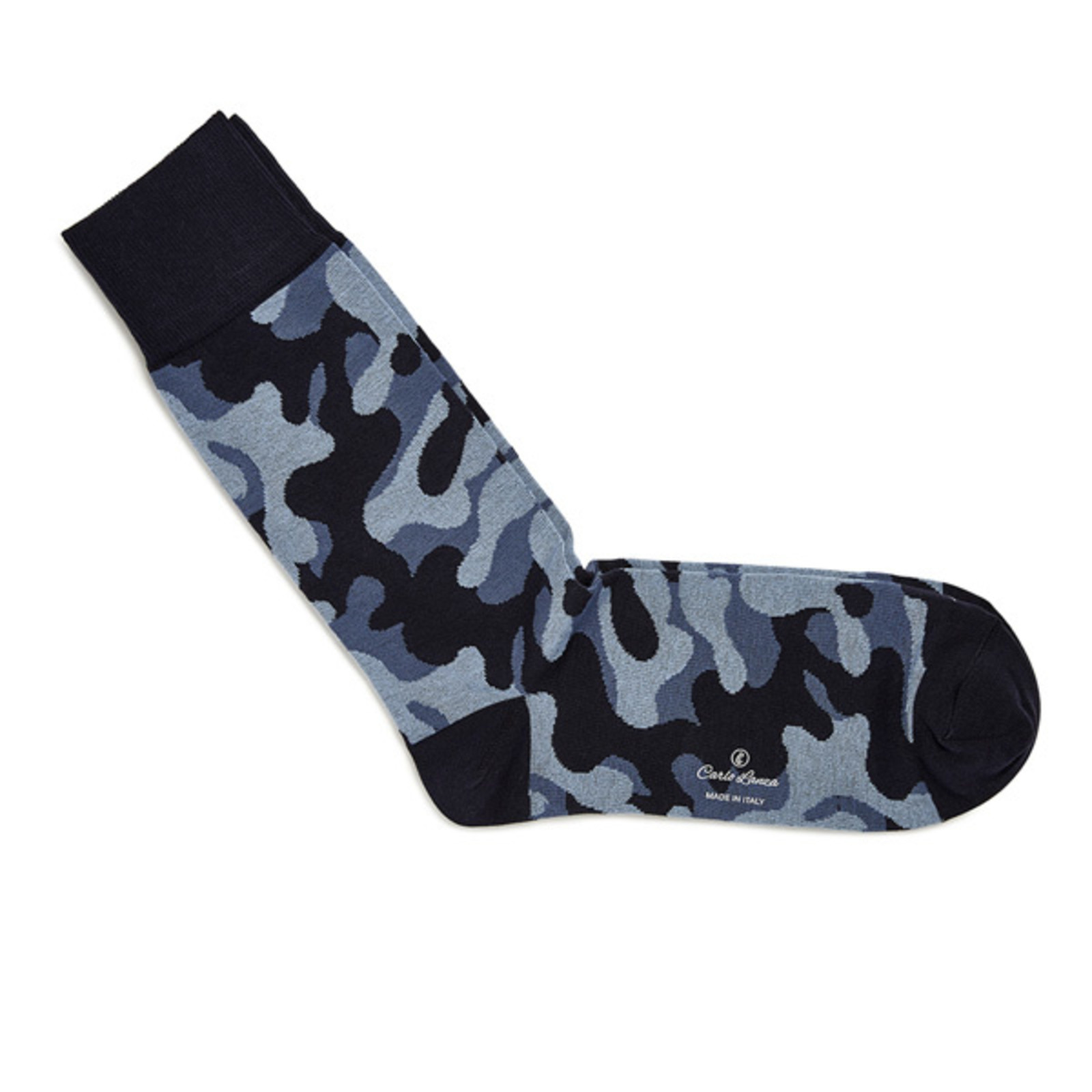 Carlo Lanza Blaue camouflage Socken