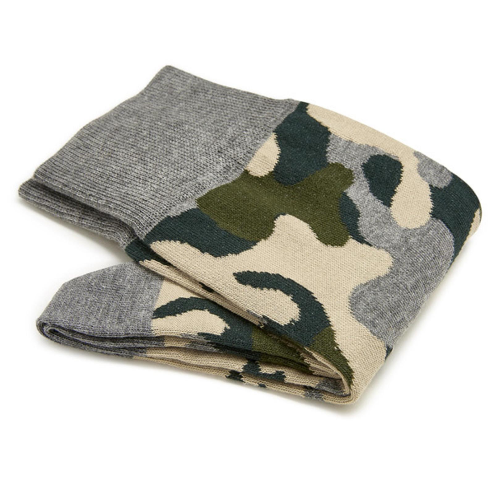 Carlo Lanza Green camouflage socks