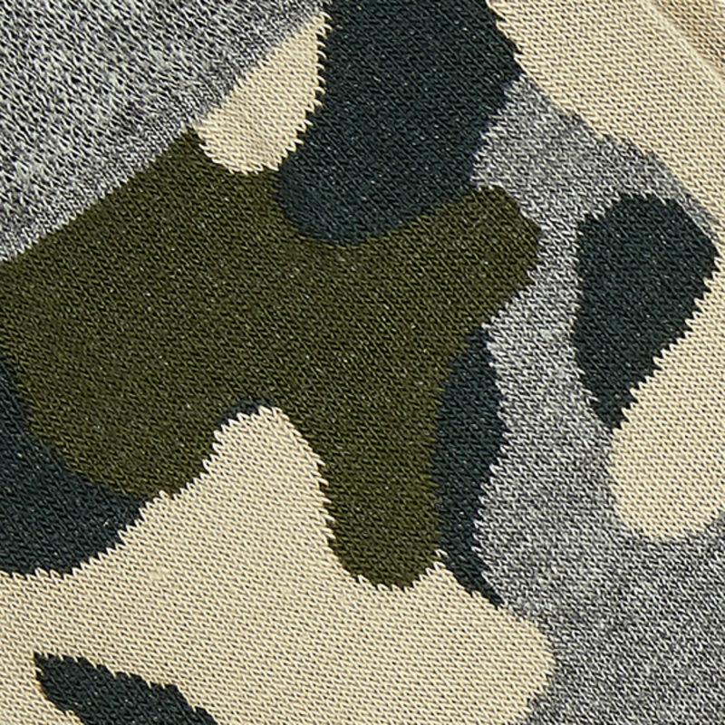 Camouflage katoenen herensokken Groen | Carlo Lanza