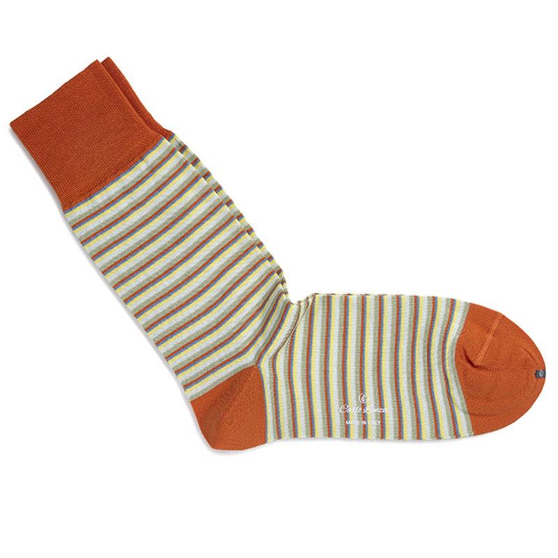Oranje streep sokken | Carlo Lanza