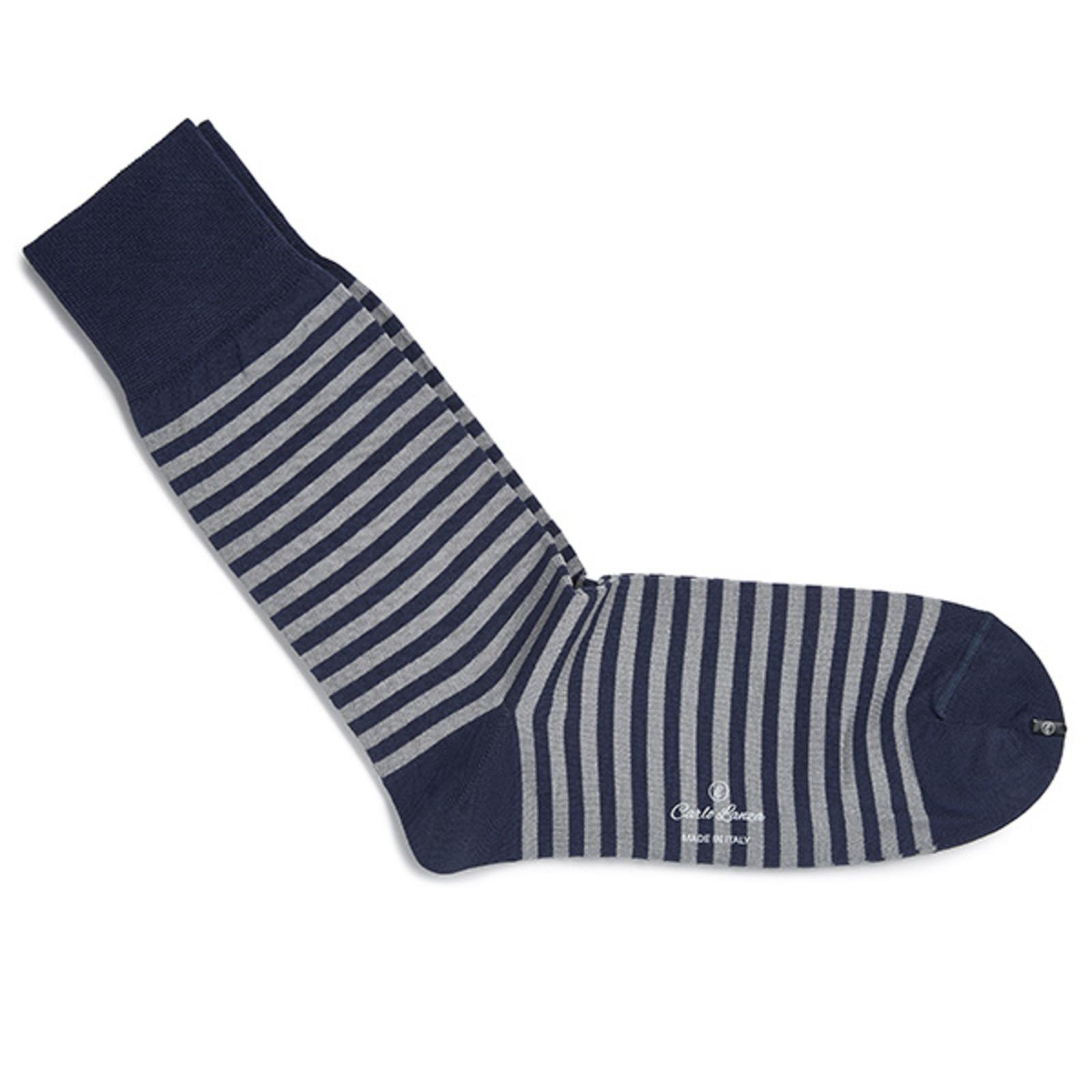 Carlo Lanza Royal blue streep sokken | Carlo Lanza