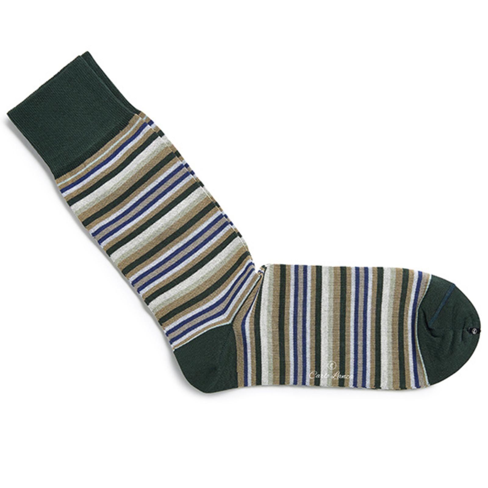 Carlo Lanza Green stripe socks
