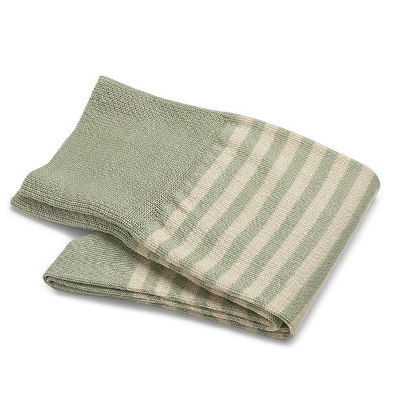 Pistachio stripe socks