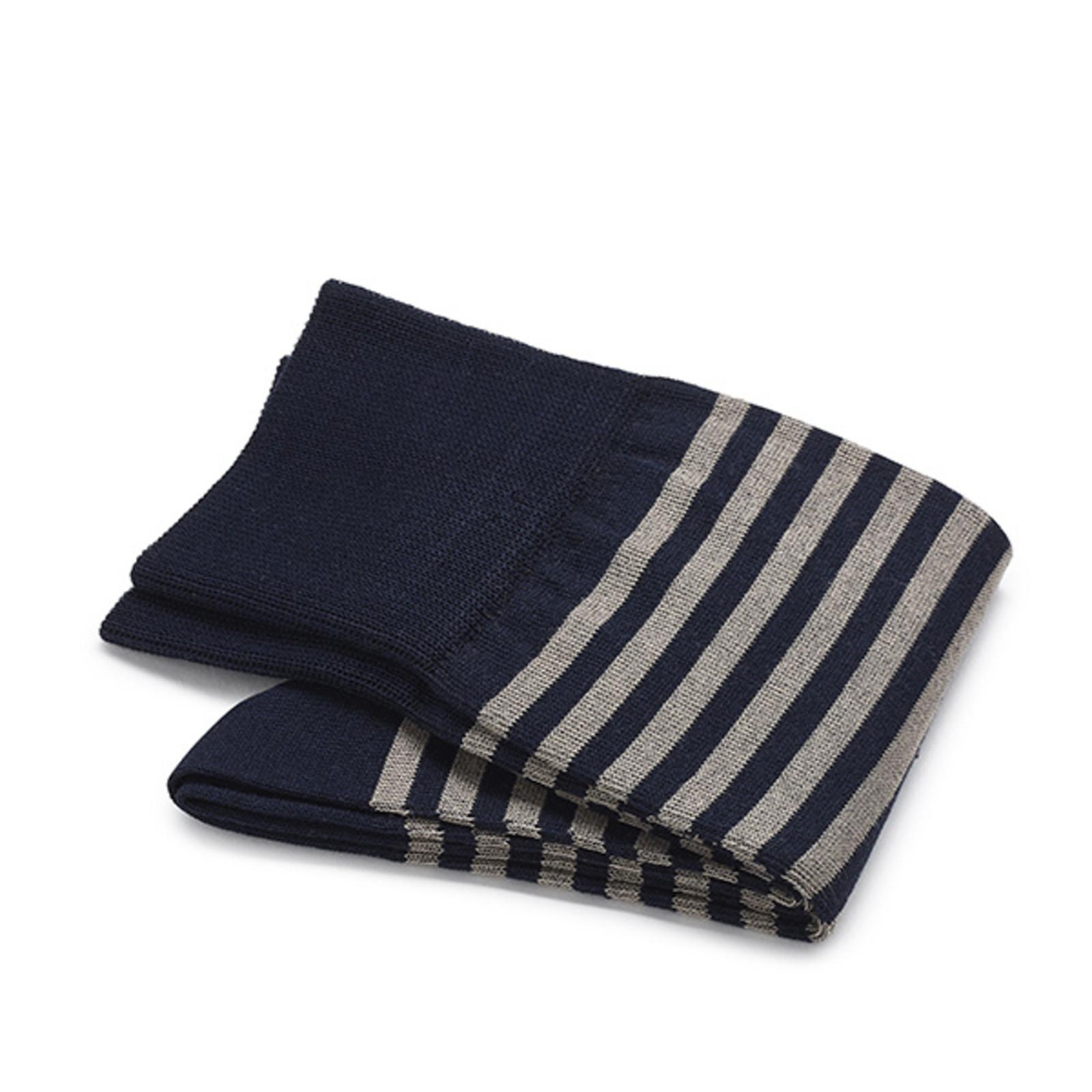 Carlo Lanza Donkerblauwe streep sokken   Carlo Lanza