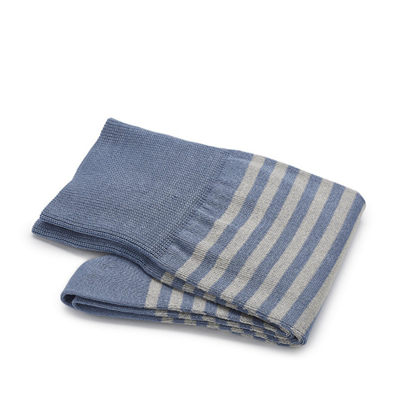 Blau/ graue gestreifte Socken