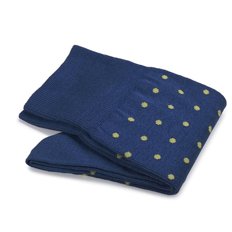 Kobaltblauwe stip sokken   Carlo Lanza