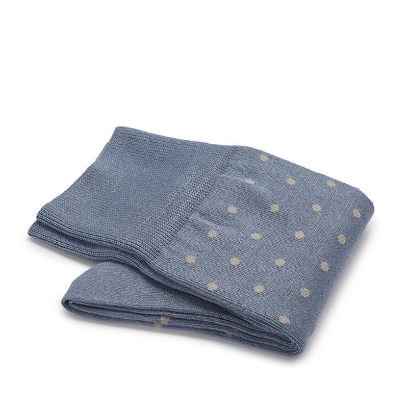 Blau/ graue gepunktete Socken
