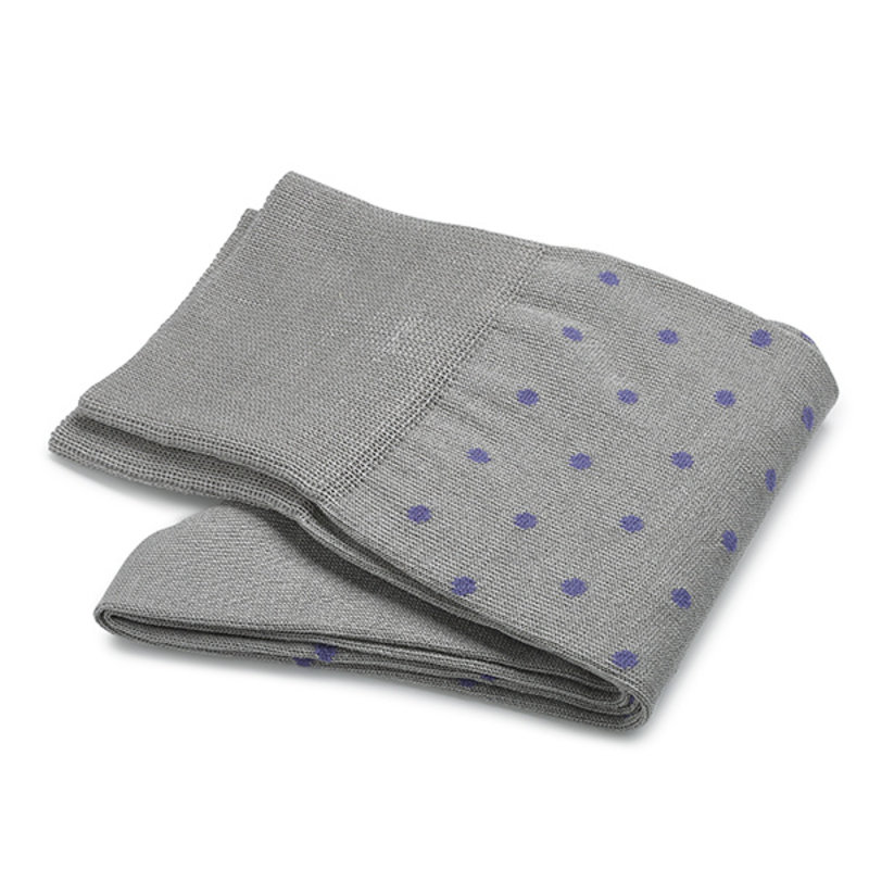 Lightgrey dot socks
