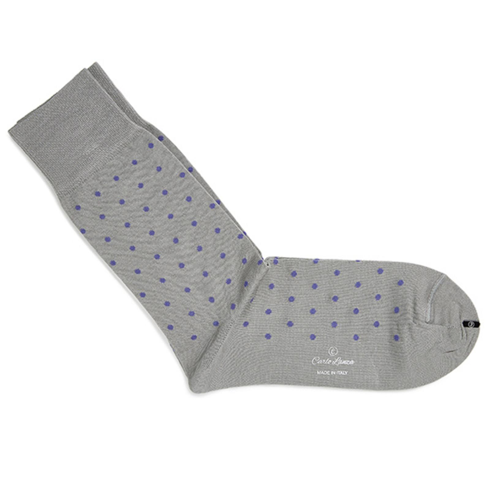 Carlo Lanza Lightgrey dot socks