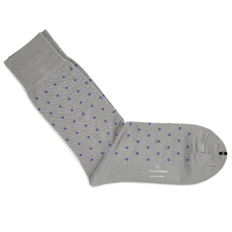Lichtgrijze stip sokken | Carlo Lanza