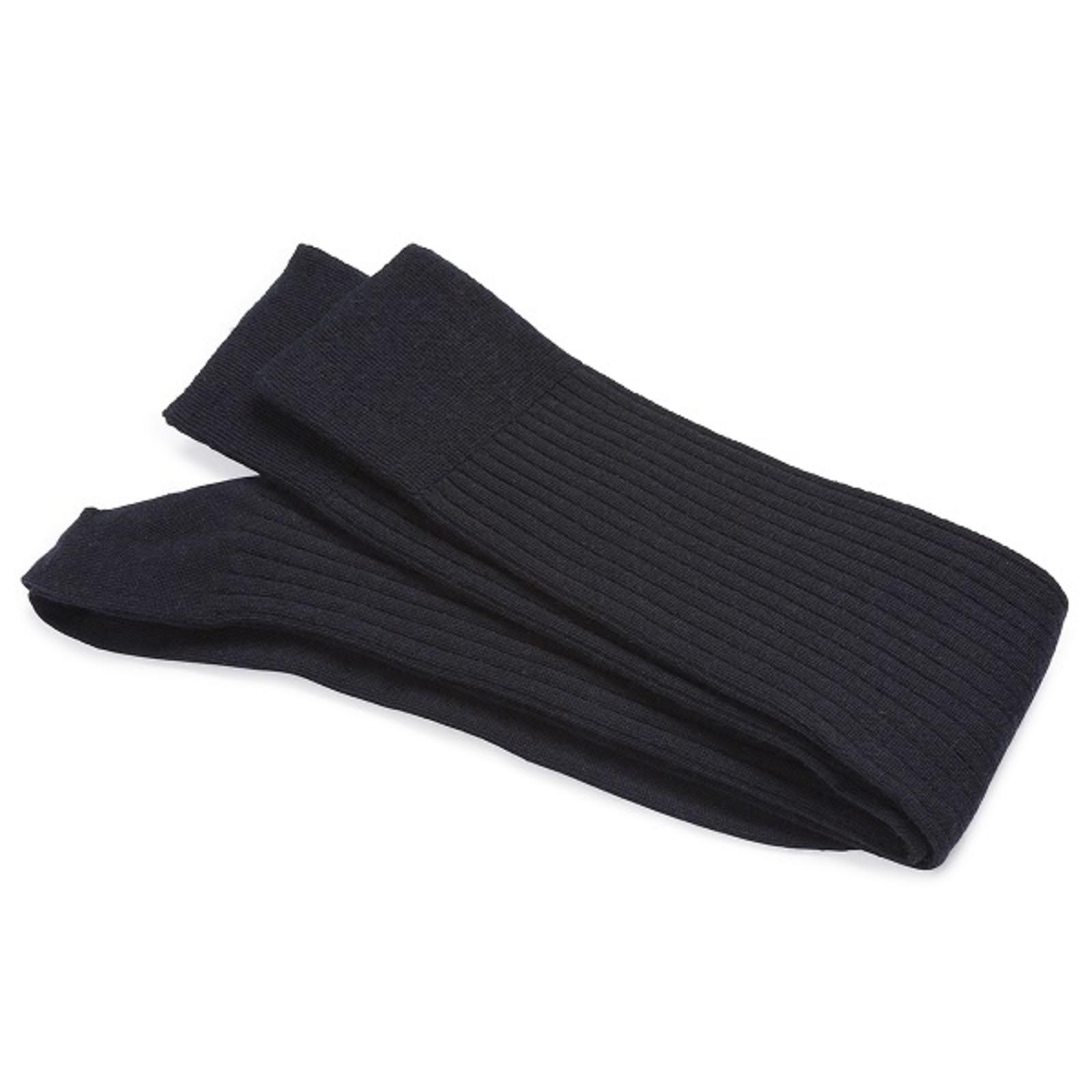 Carlo Lanza Navy Wool/Silk Knee-high Socks