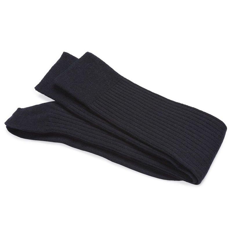 Navy Wool/Silk Knee-high Socks