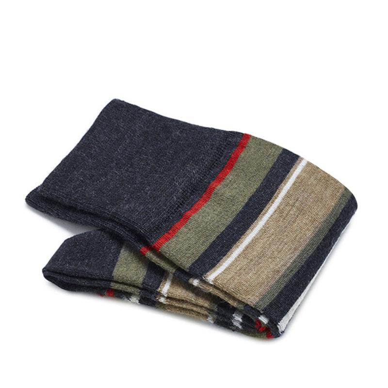 Roten gestreifte Socken Merino Wolle