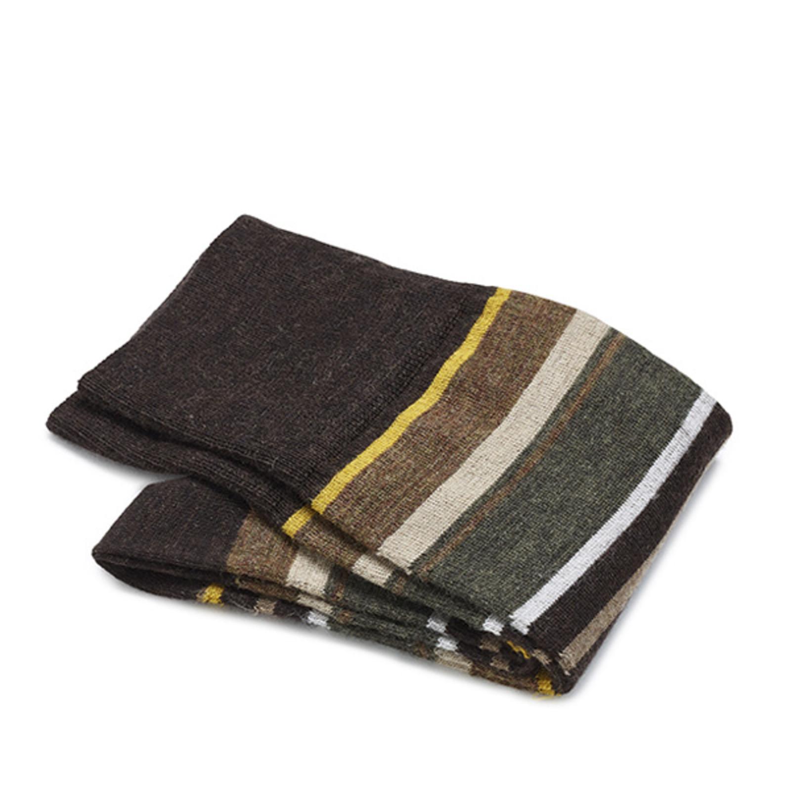 Carlo Lanza Yellow wool stripe socks