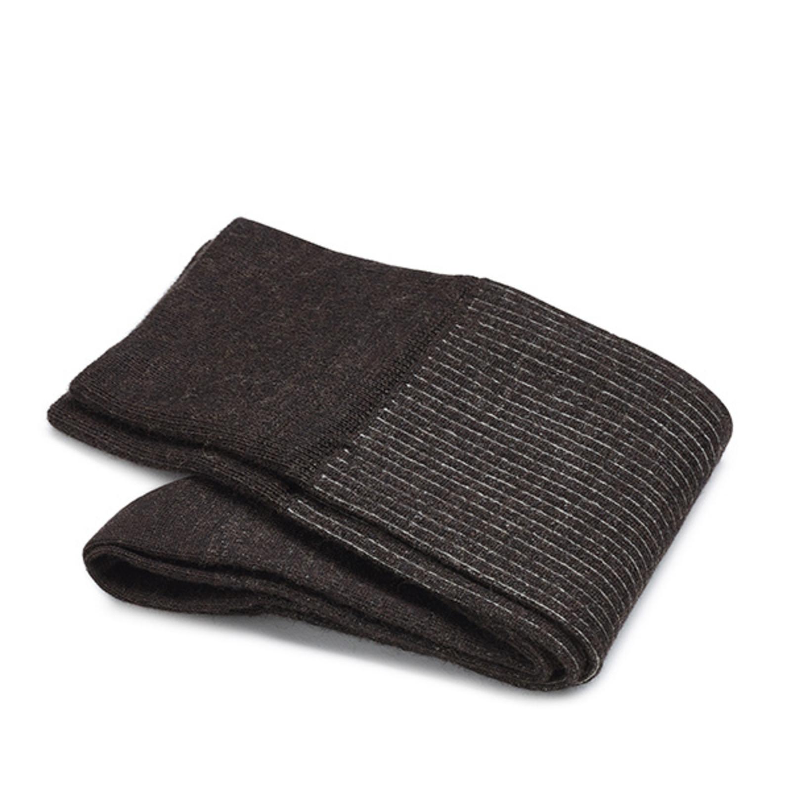Carlo Lanza Braune Shadow Socken Merino Wolle
