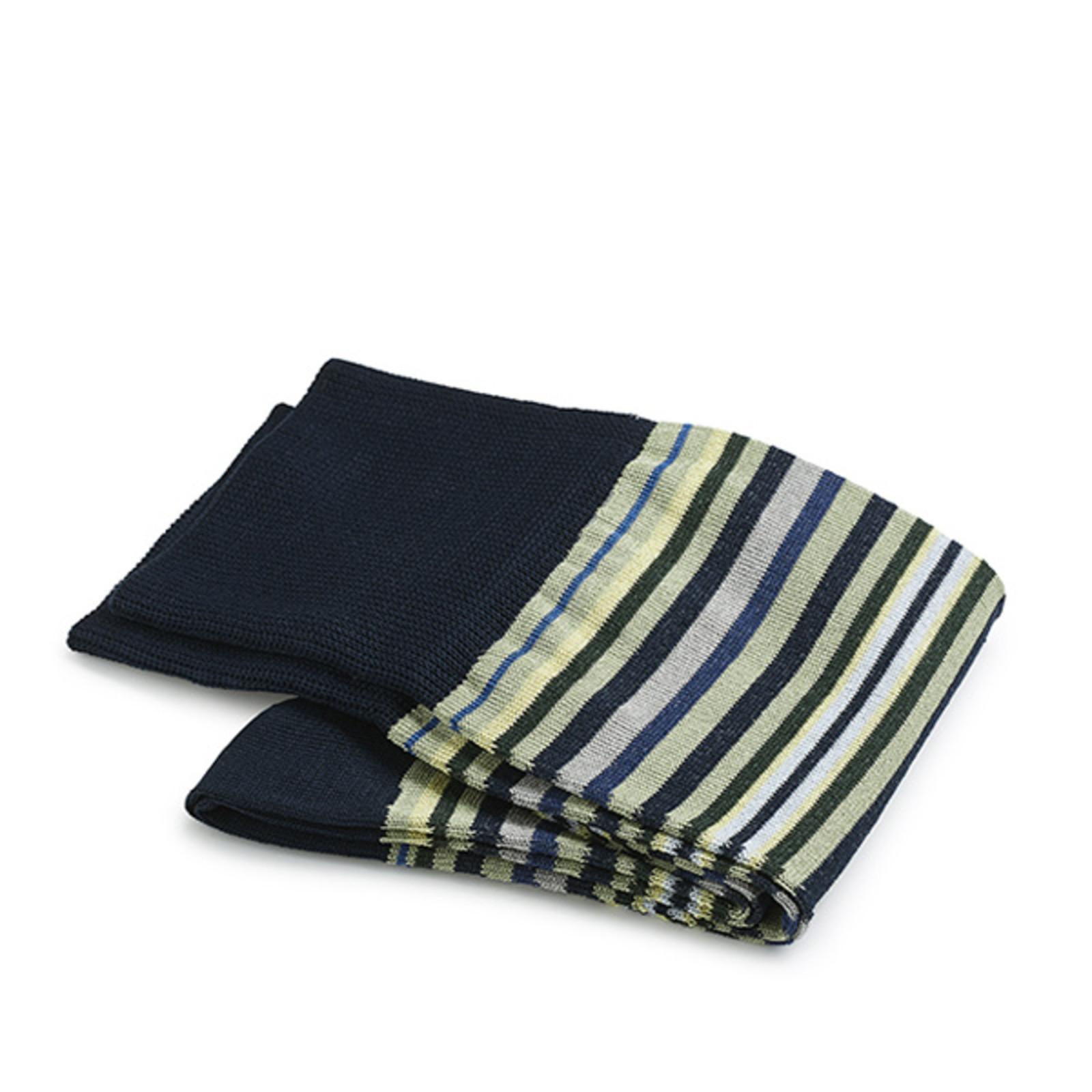Carlo Lanza Donkerblauwe streep sokken | Carlo Lanza