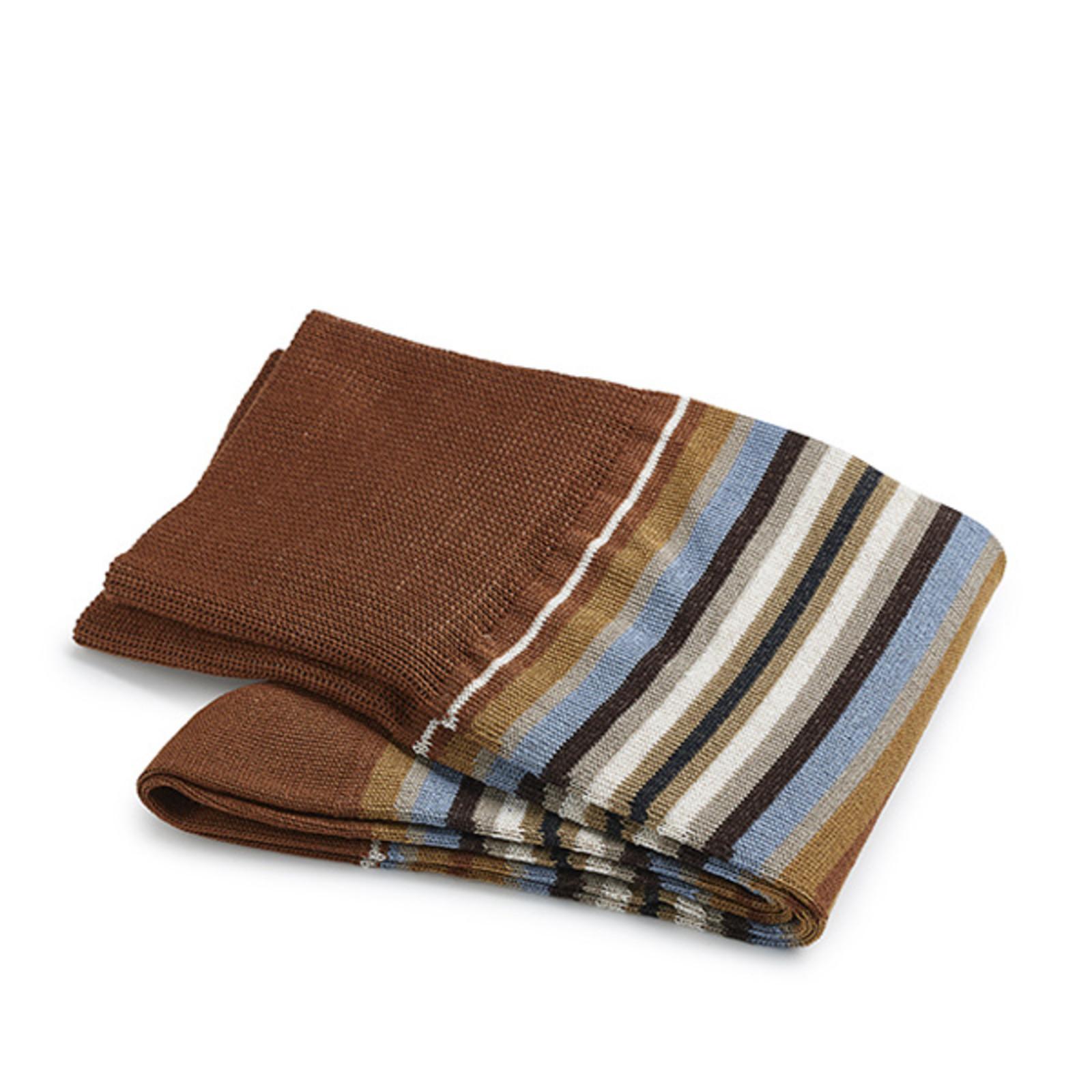 Carlo Lanza Brown strip socks