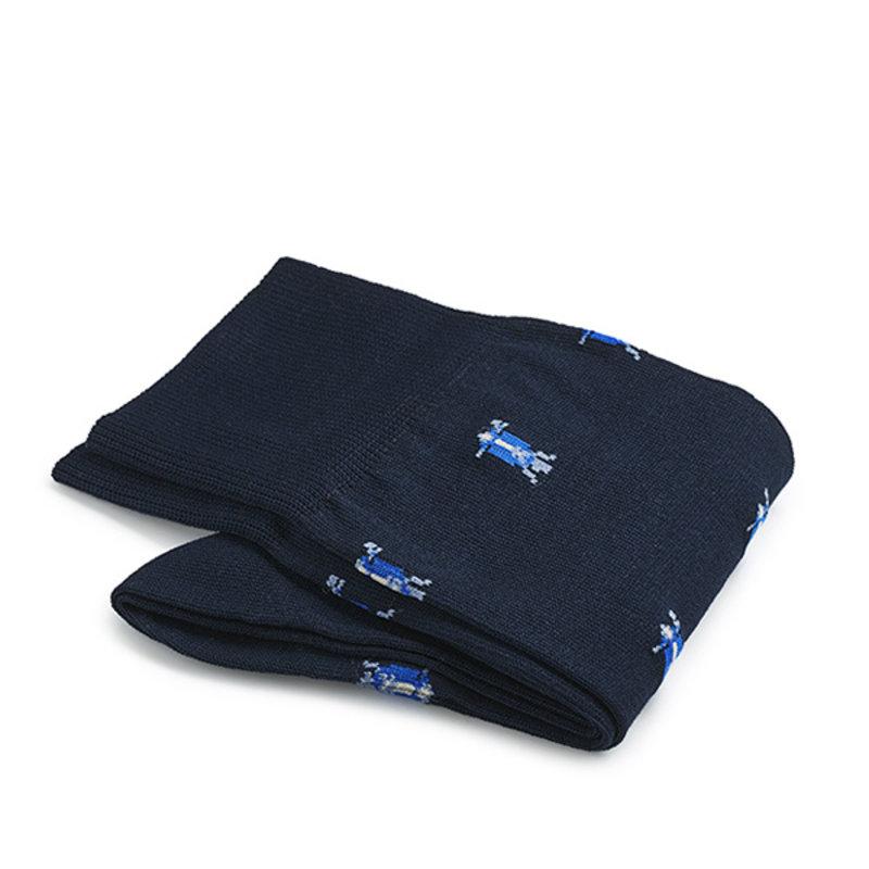Blaue roller Socken Baumwolle